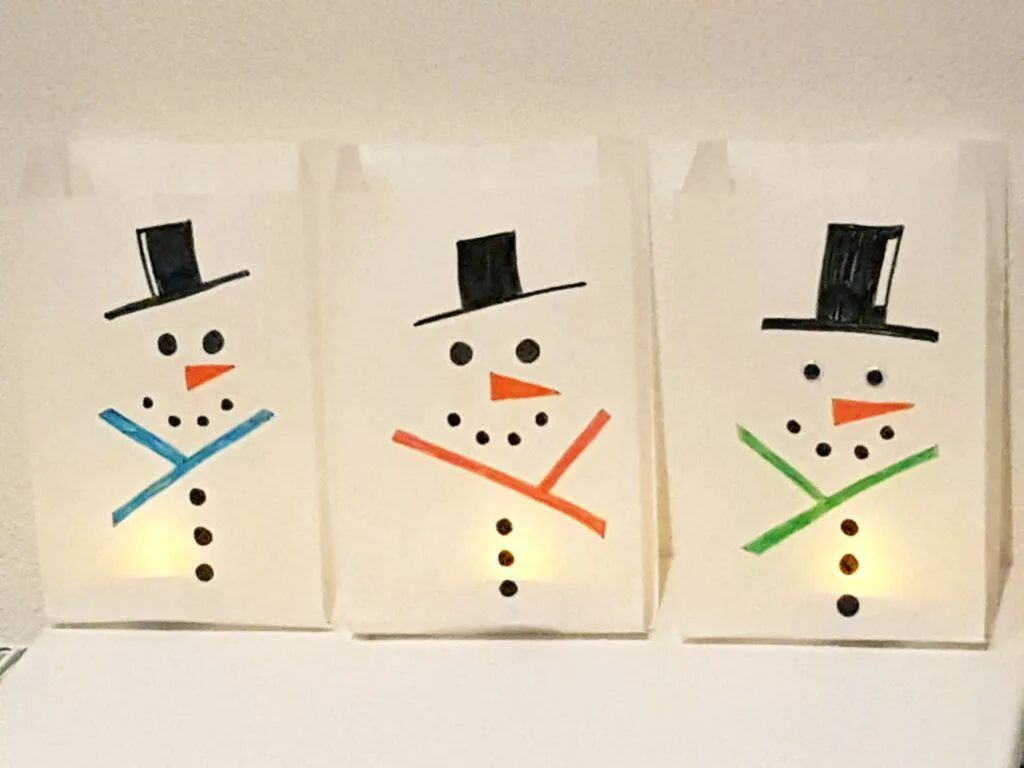 Easy Snowman Luminary