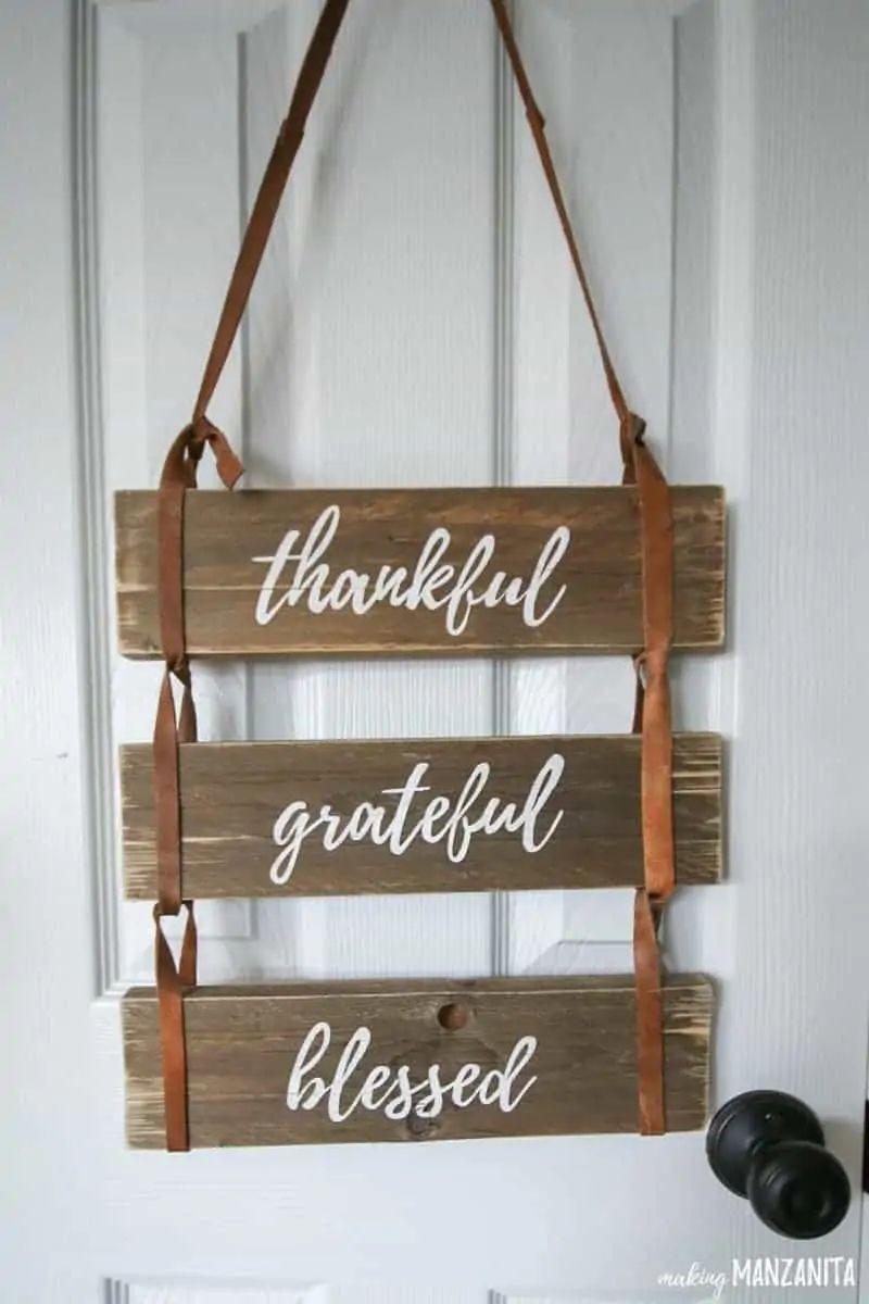 Thankful Wood Pallet Sign