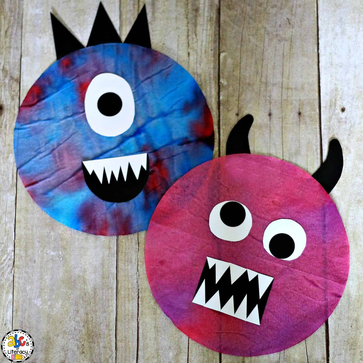 Tie-and-Dye Coffee Filter Monster