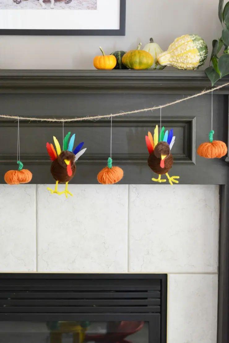 Turkey And Pumpkin Garland