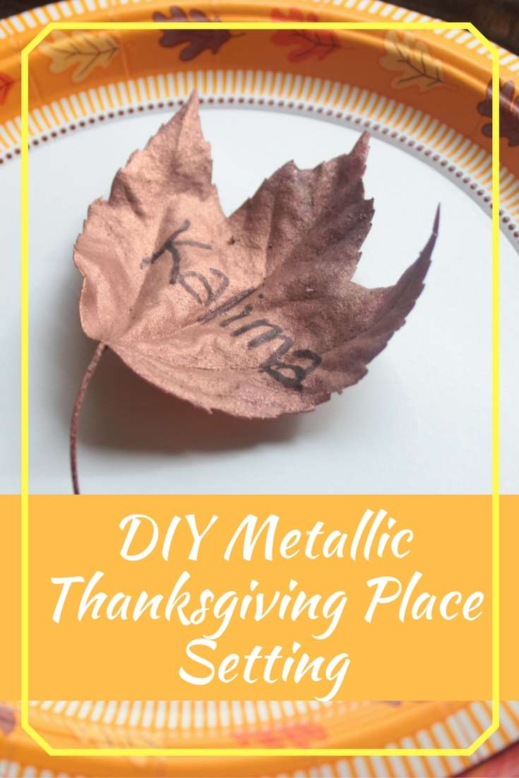 DIY Thanksgiving Place Settings