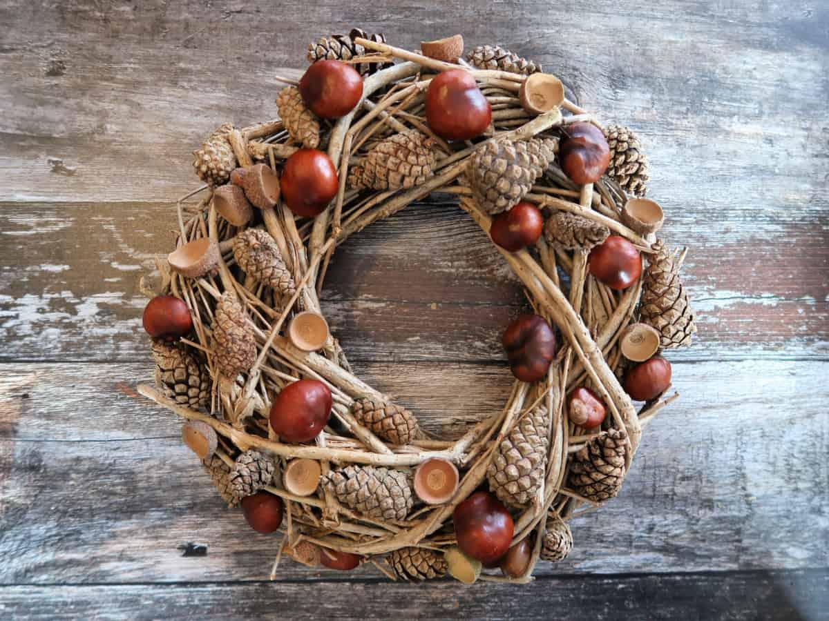 Acorn and Pinecone Wreath