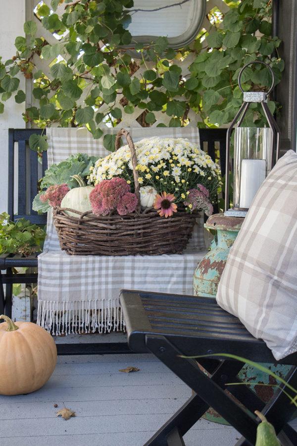 Fall Basket Display