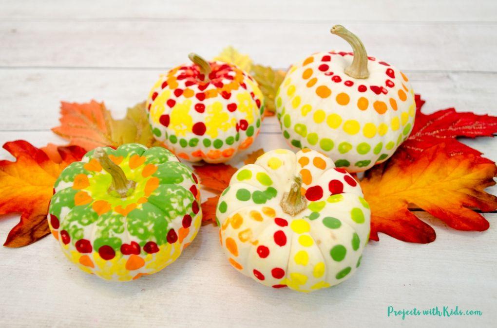 Q-Tip Painted Pumpkin