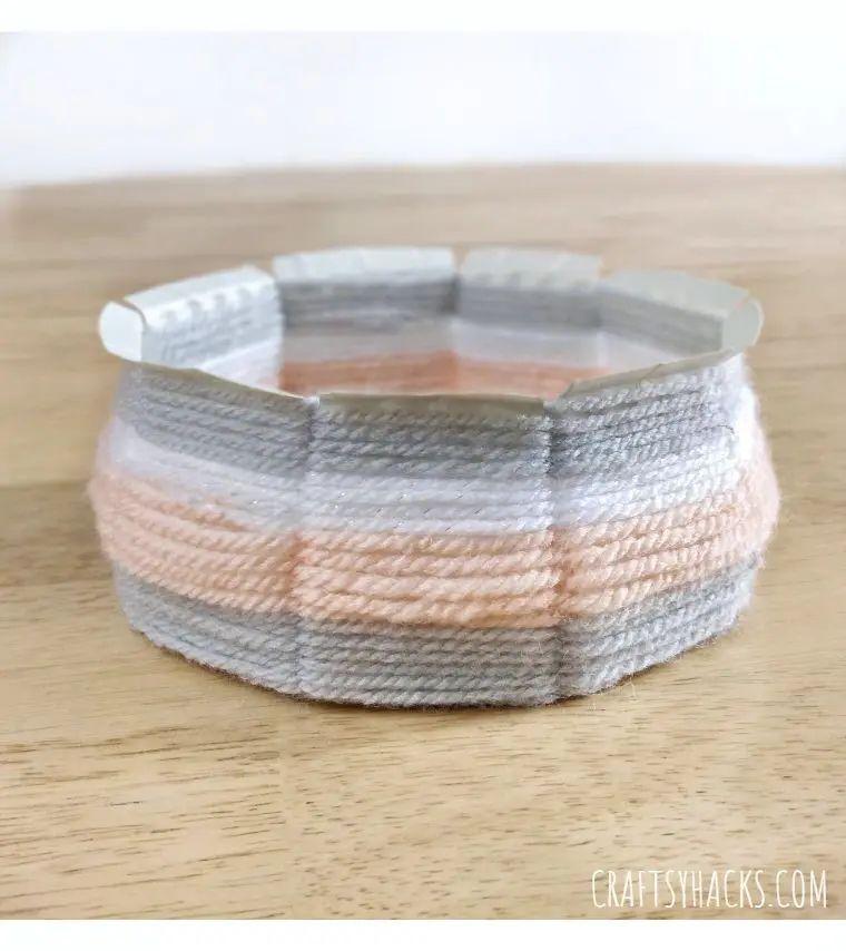 DIY Woven Yarn Bowl
