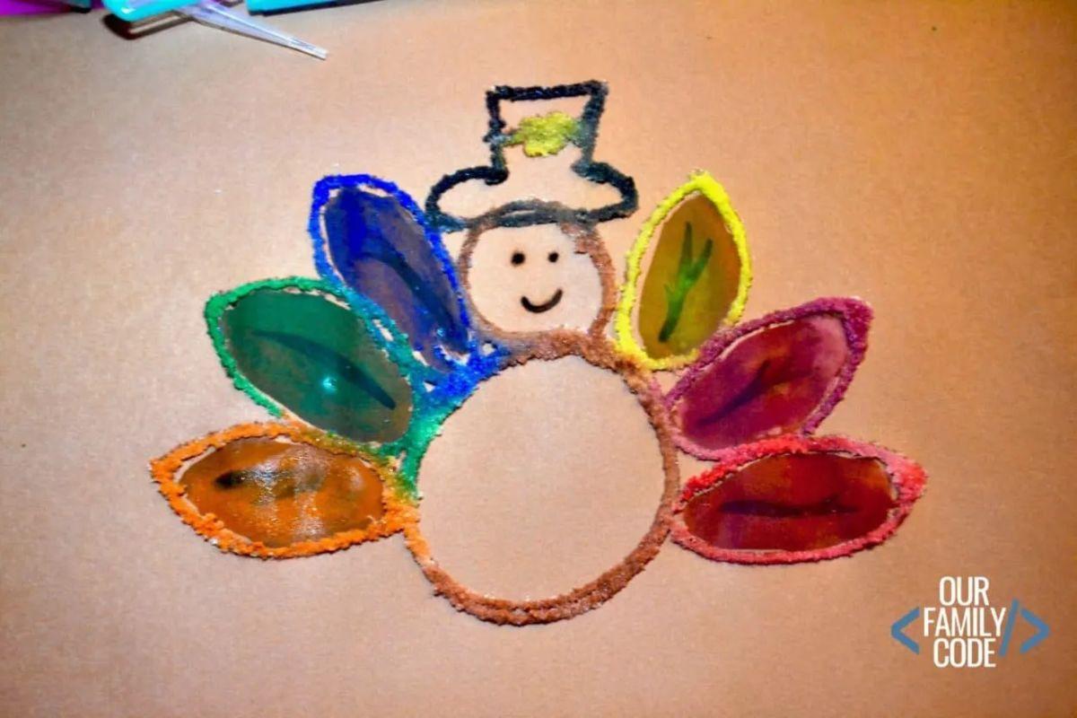 Thanksgiving Salt Painting
