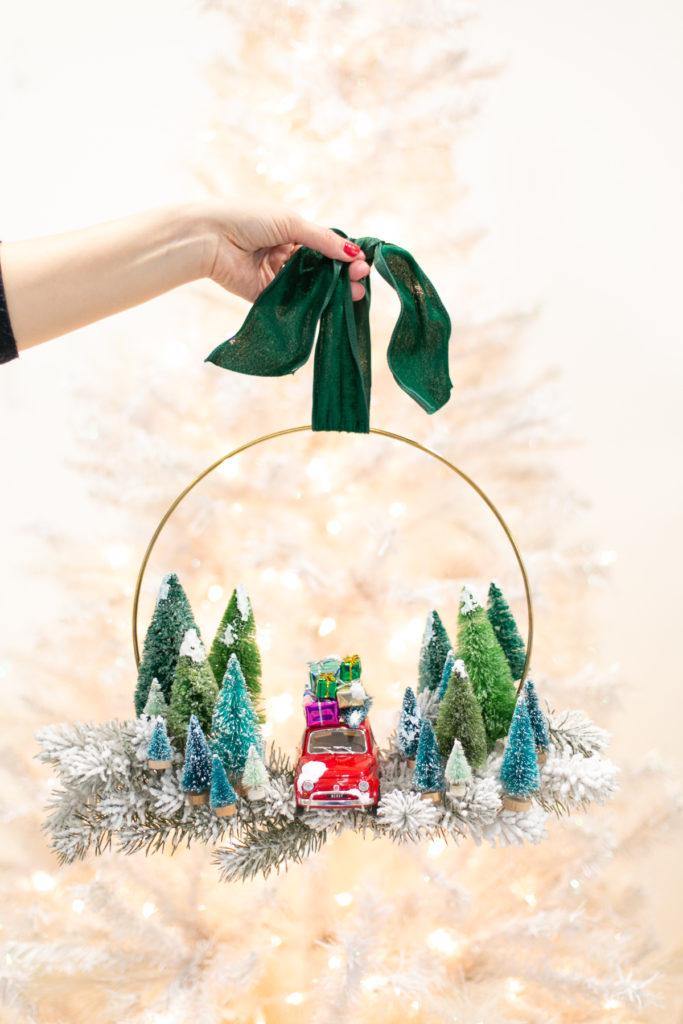 Vintage Toy Car Christmas Wreath