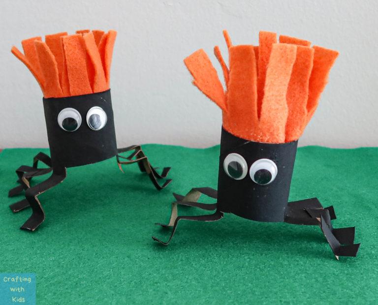 DIY Toilet Paper Roll Spiders