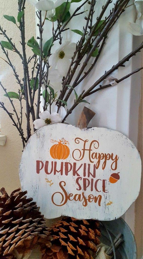 DIY Wood Pumpkin Sign