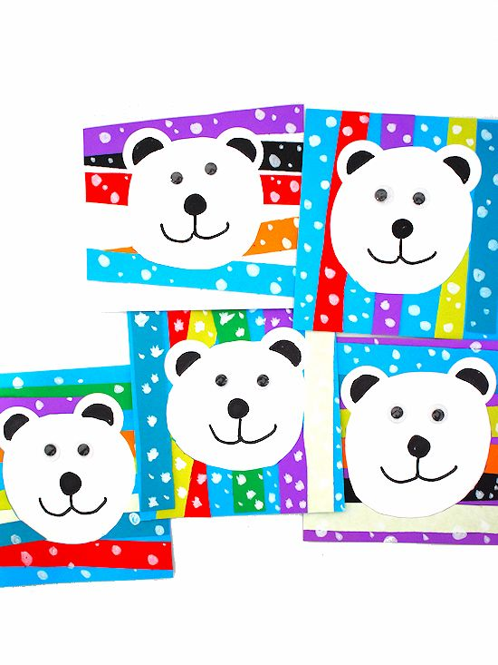 Paper Strip Polar Bear