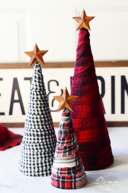 DIY Flannel Trees
