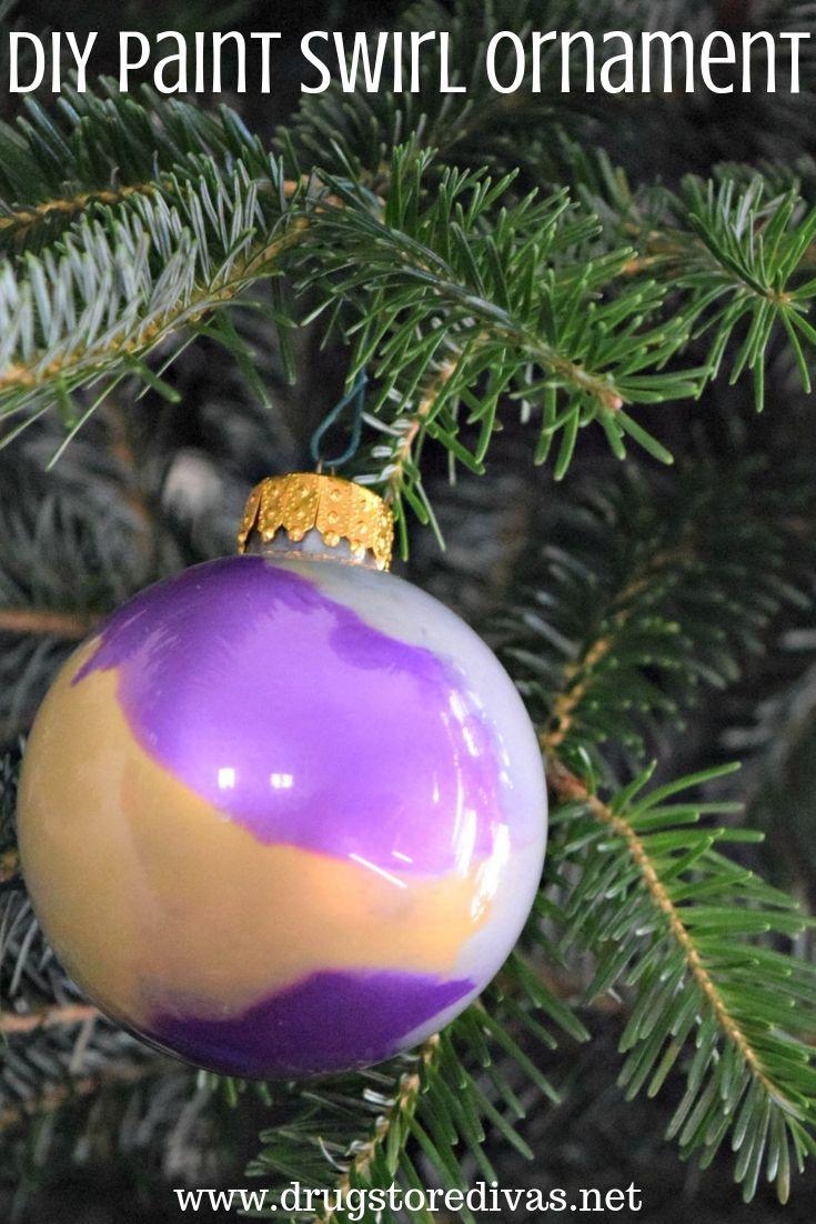 DIY Paint Swirl Ornament