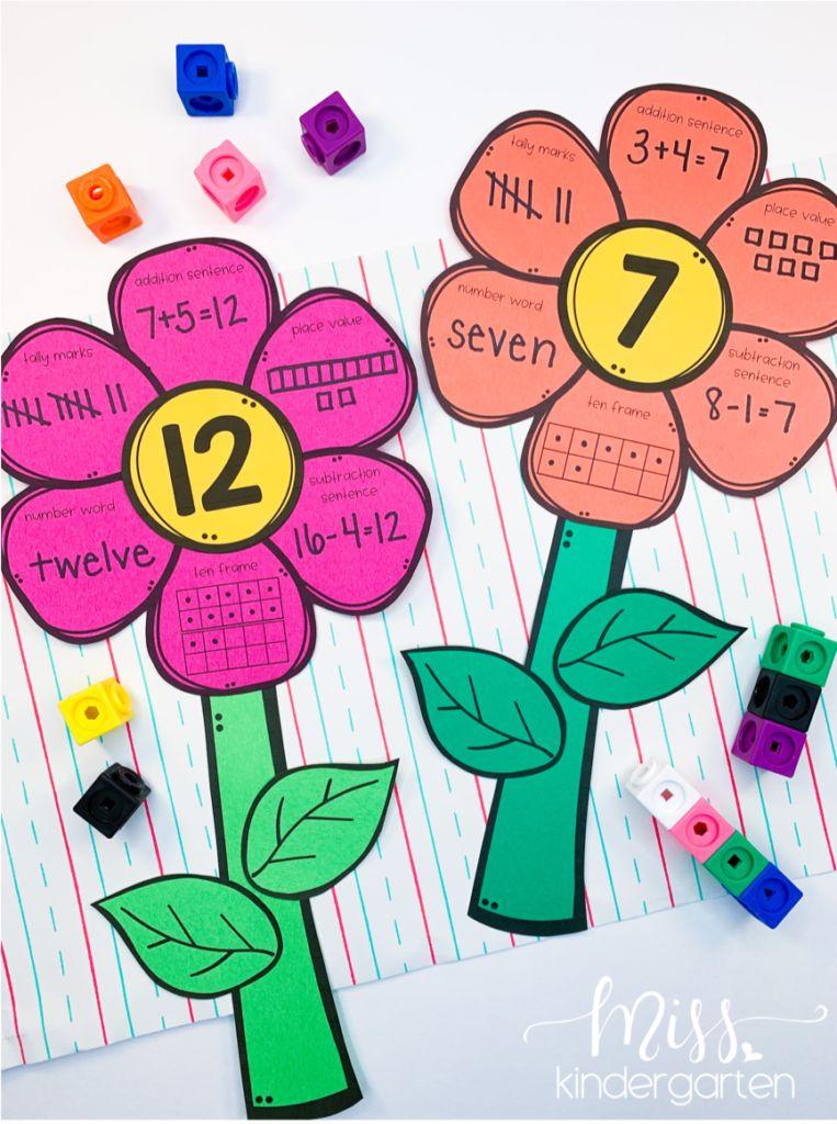 Math Flower crafts