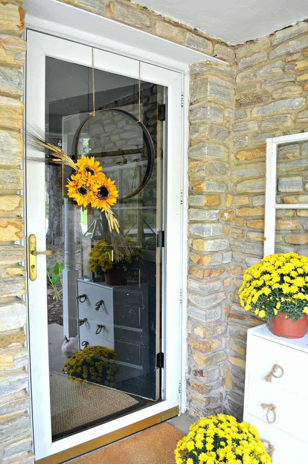 Simple Fall Hoop Wreath