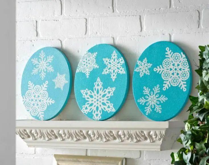 Snowflake Art For The Mantel