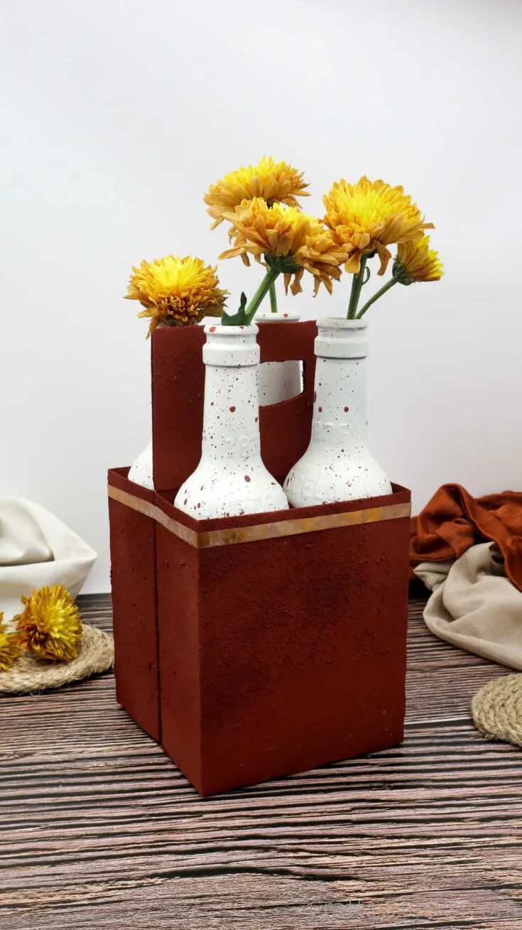 DIY Table Centerpiece Out of a Beer 4-Pack