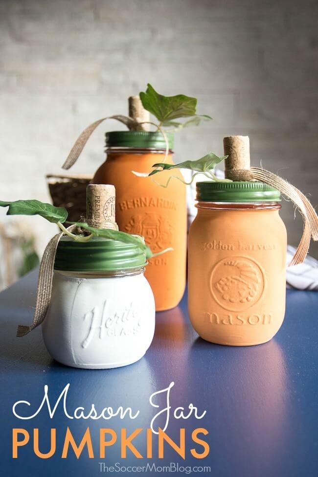 Pumpkin Mason Jar
