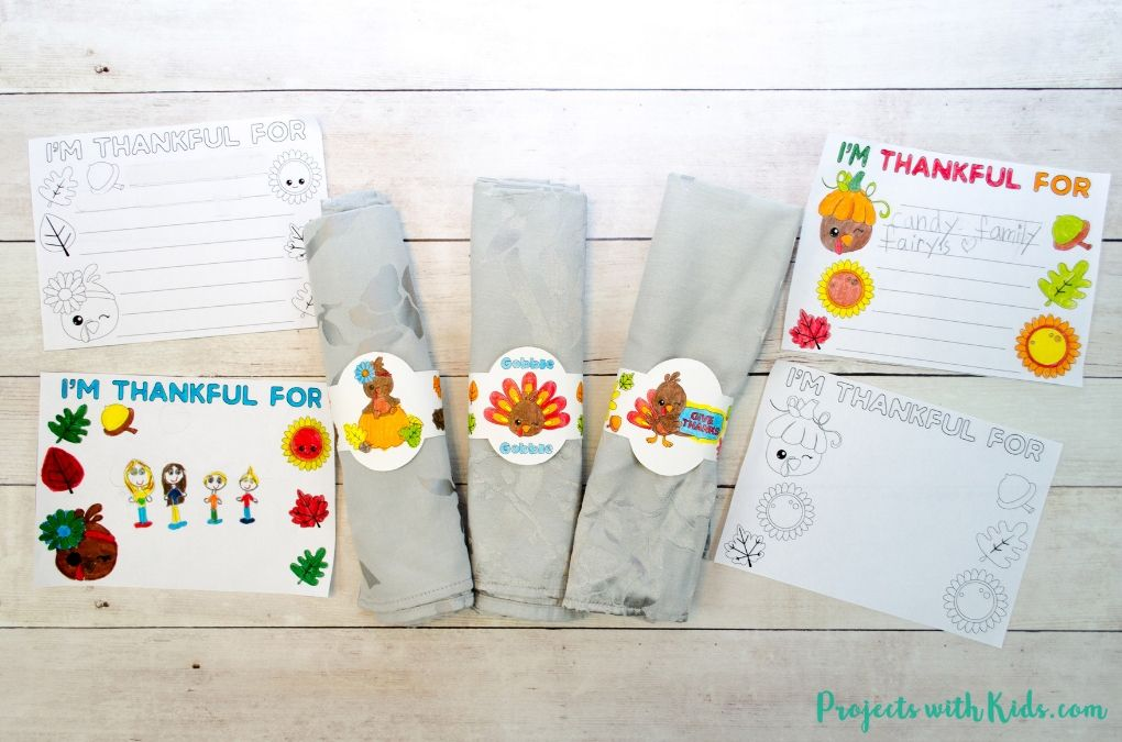 Thanksgiving Kids Table Printables