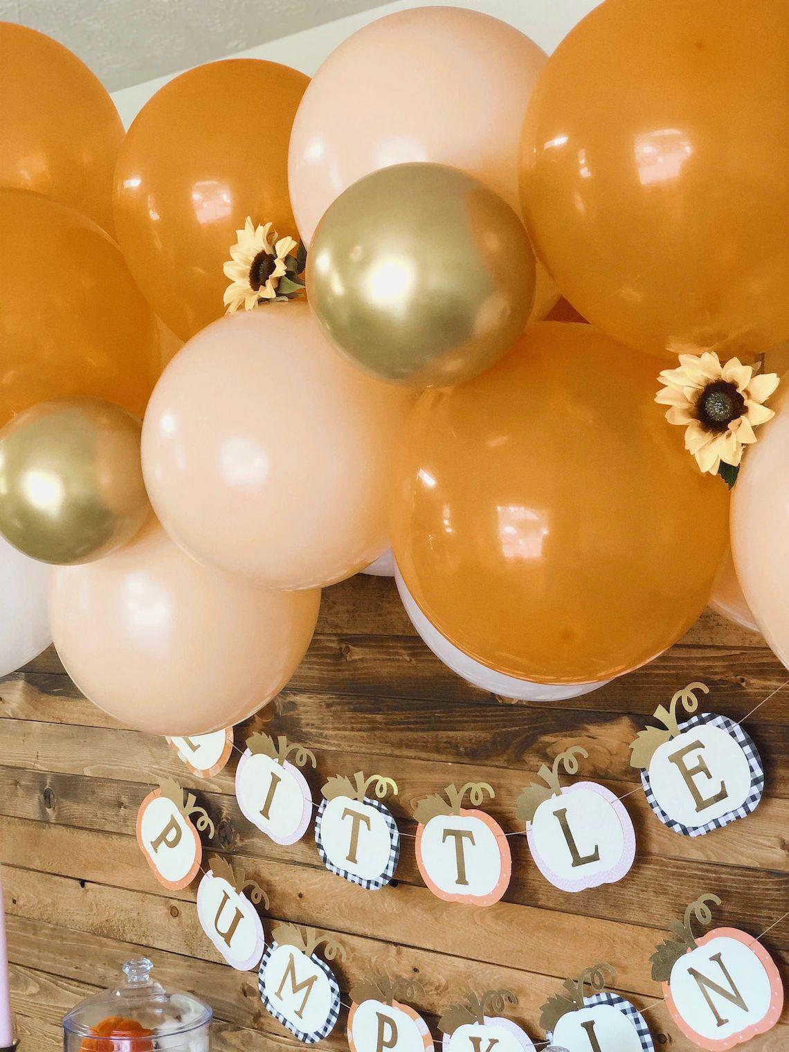 Fall Pumpkin Balloon Garland