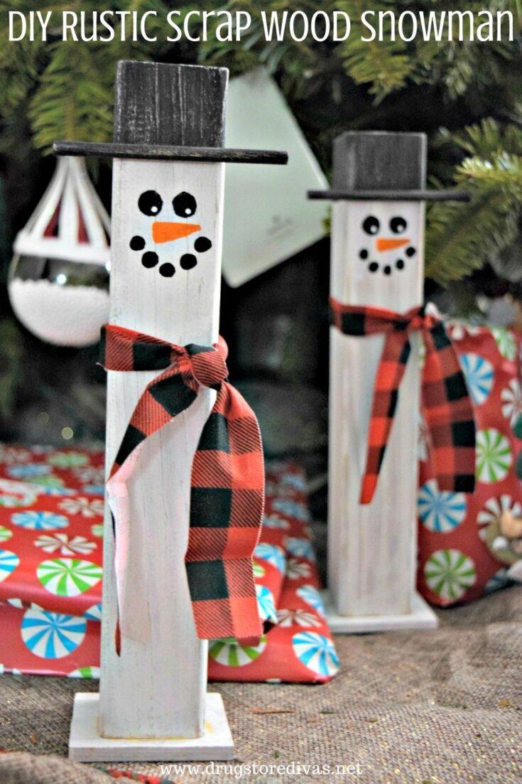 Rustic Scrap Wood Snowman