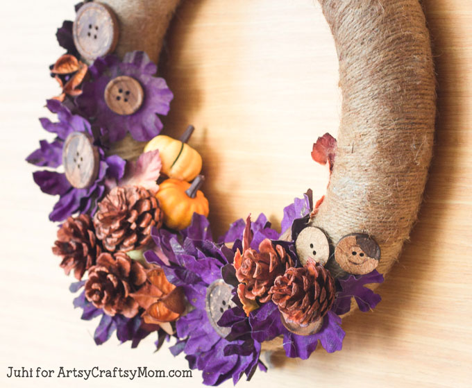 Twine and Pinecone Wreath