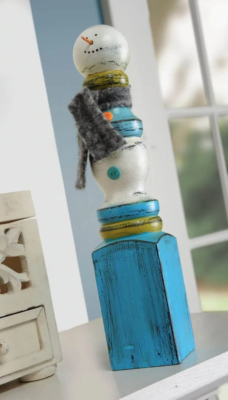Easy Spindle Snowman Craft