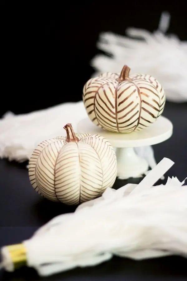 Herringbone Mini Pumpkins