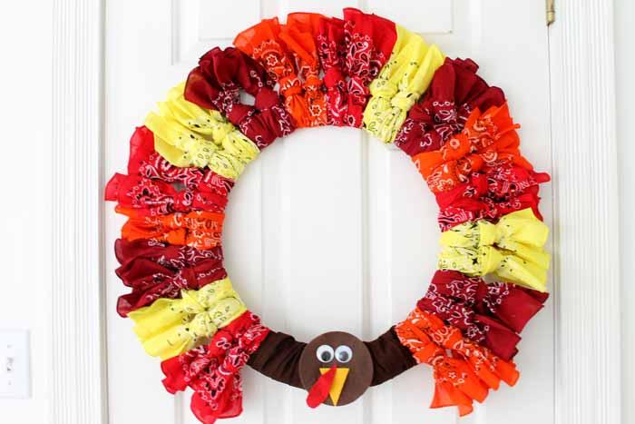 Bandanna Turkey Wreath