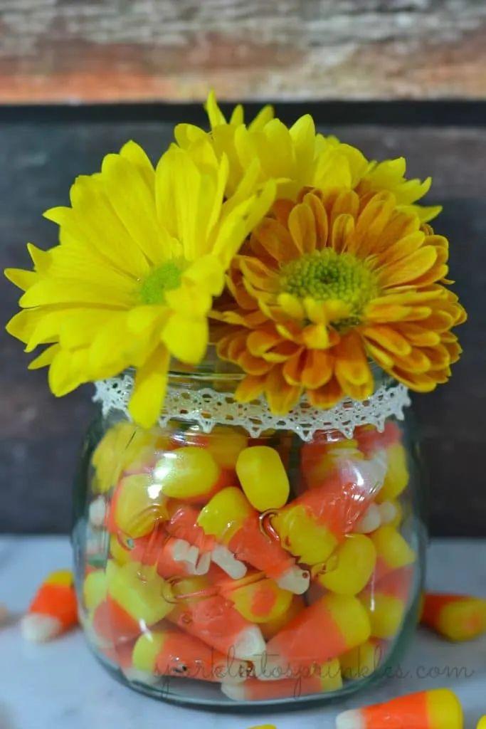 Candy Corn Centerpiece