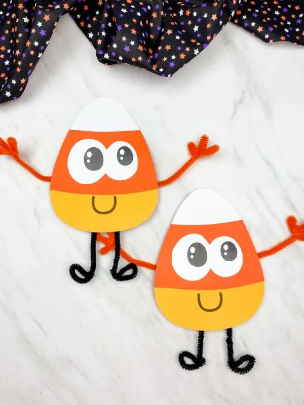 Candy Corn Paper Craft