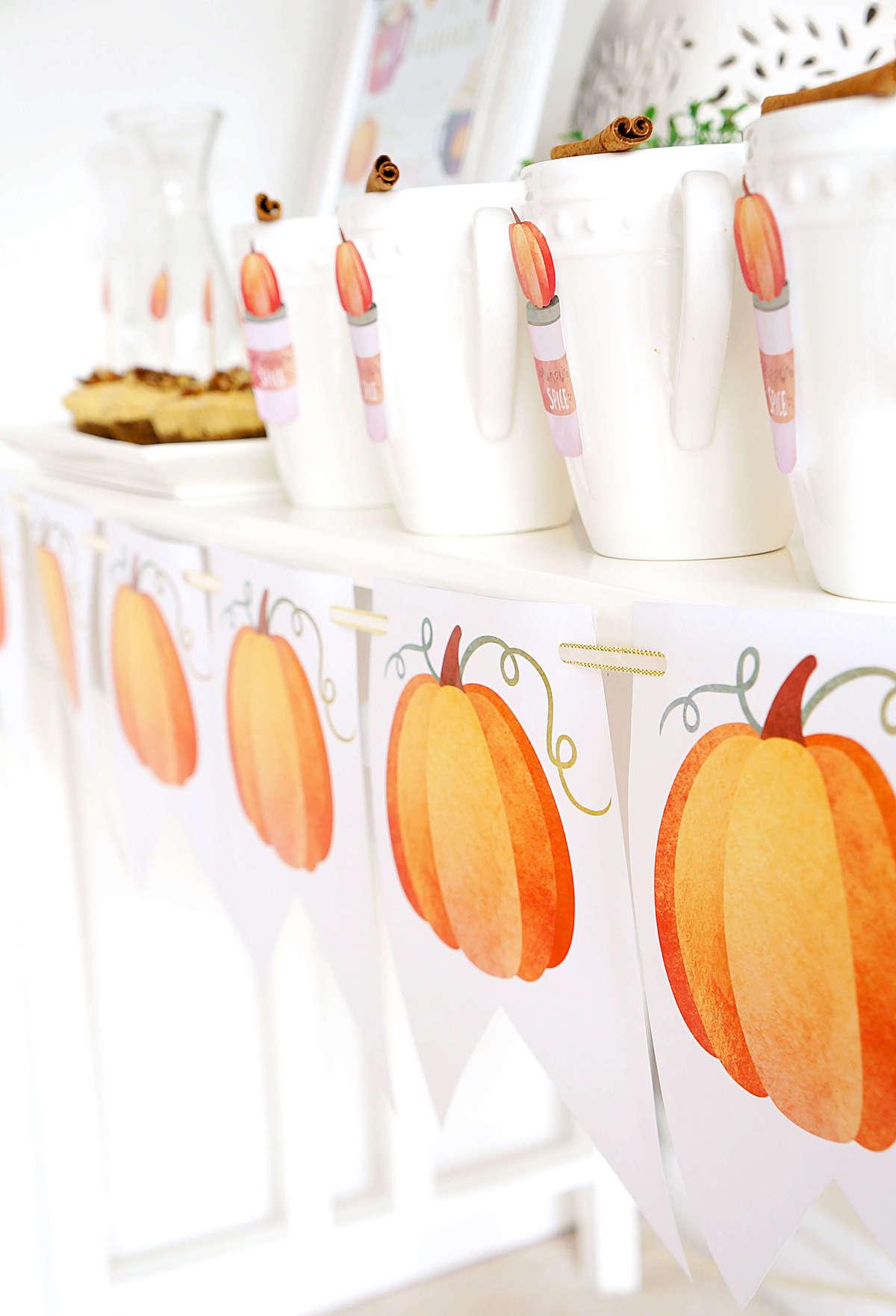 DIY Printable Pumpkin Banner