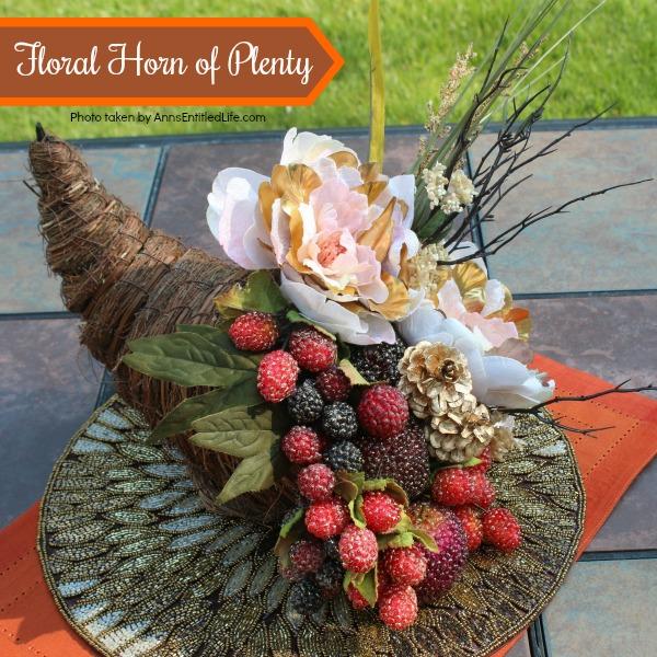 Floral Horn Of Plenty