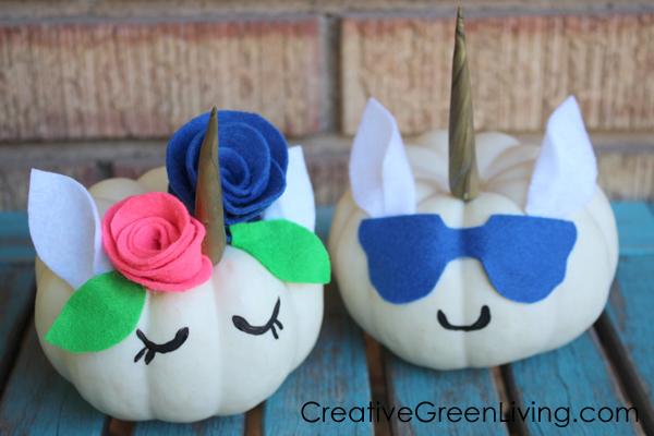 DIY Unicorn Pumpkins
