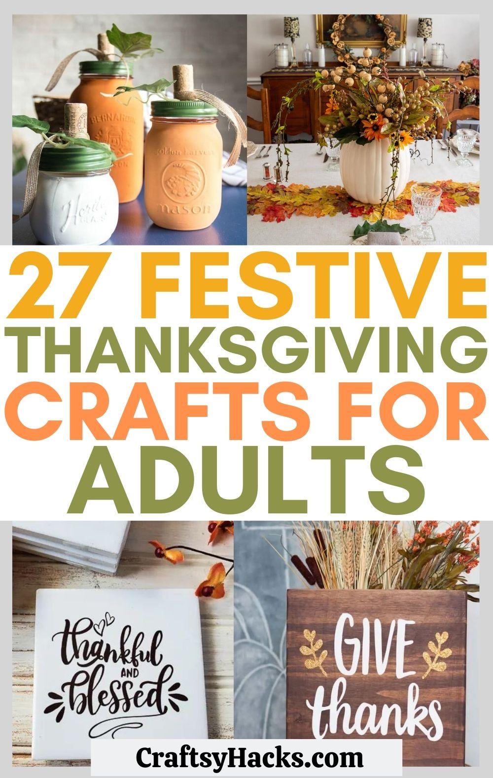 adult thanksgiving crafts