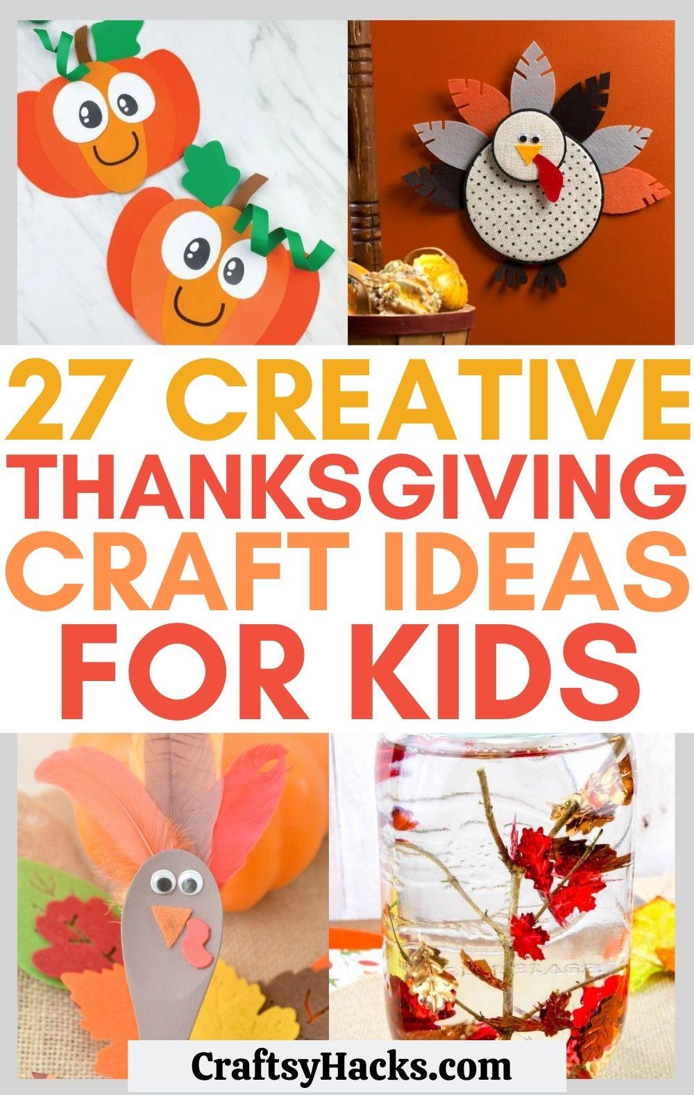 kids thanksgiving crafts