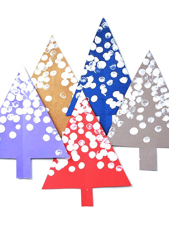Snowy Fingerprint Trees