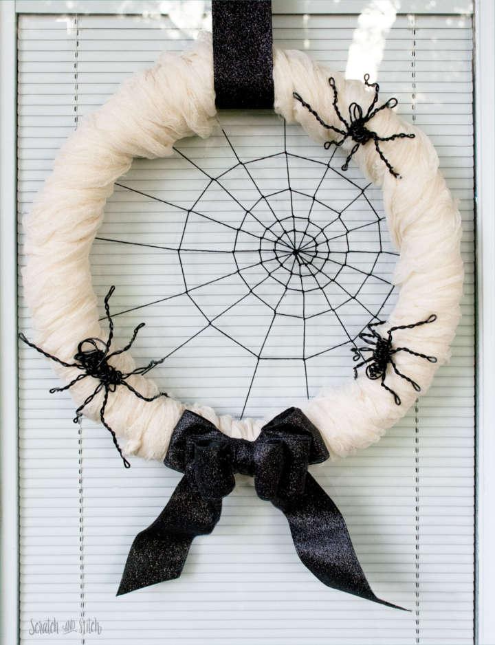 Spider's Web Halloween Wreath