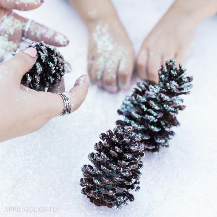 Glitter Pinecone Craft