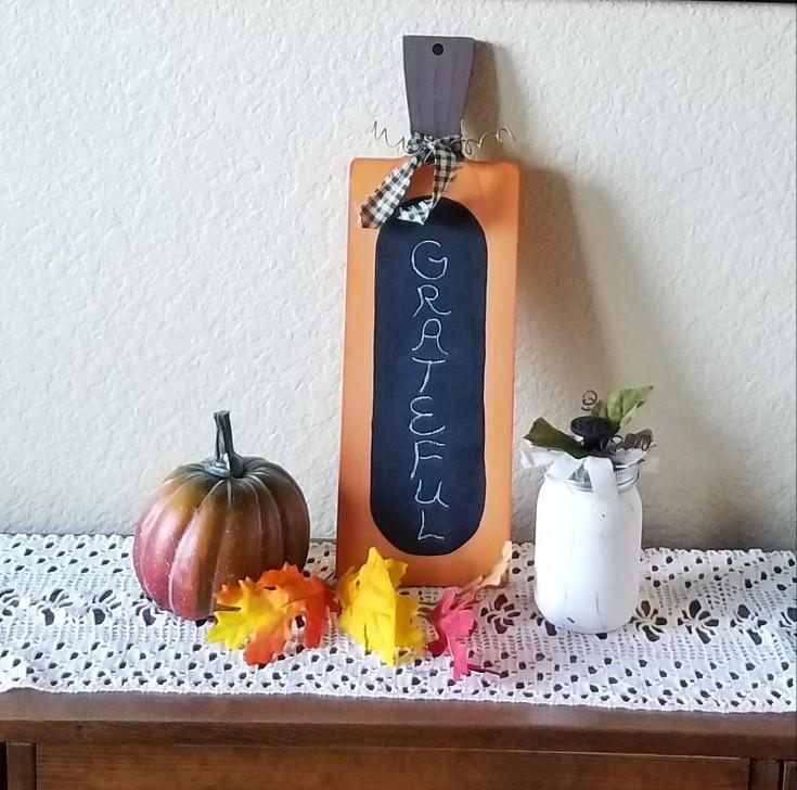 DIY Chalkboard Pumpkin