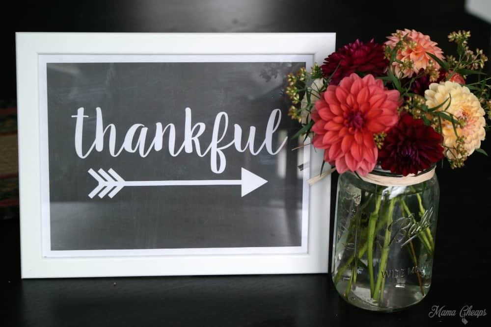 Printable Thankful Sign