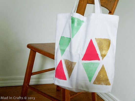 Block Print Tote Bag