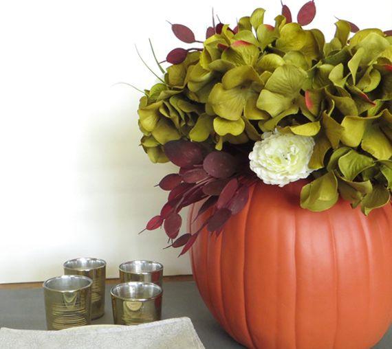 DIY Pumpkin Vase Centerpiece