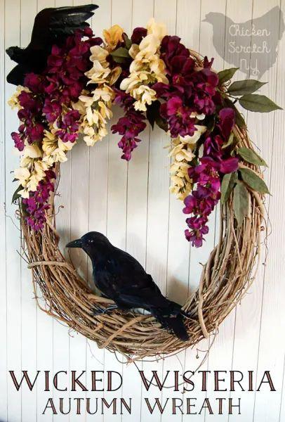 Wicked Wisteria Wreath