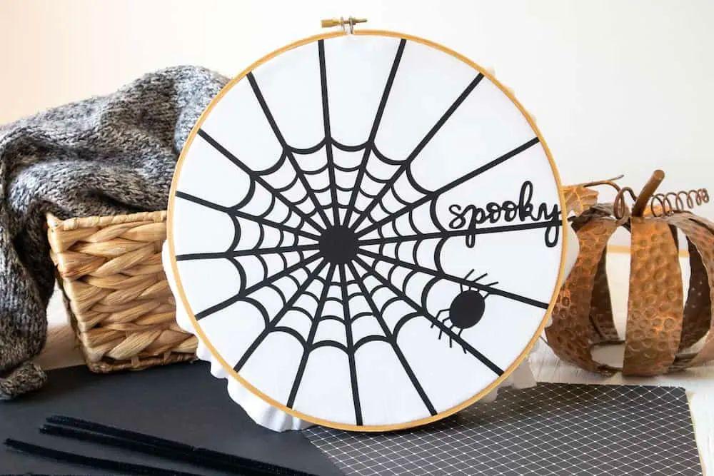 Cricut Spider Web Wreath