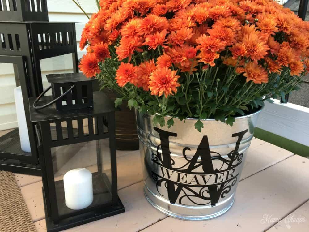 Monogram Flower Bucket