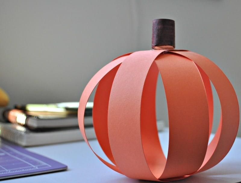 Paper Pumpkin For Preschoolers