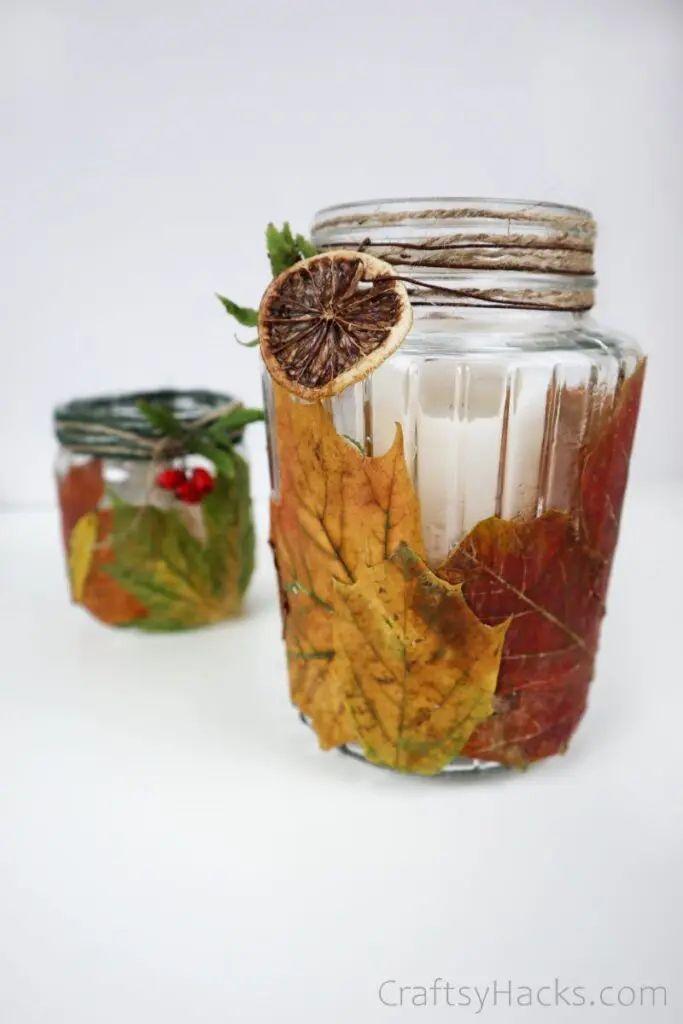 DIY Leaf Candle Holder