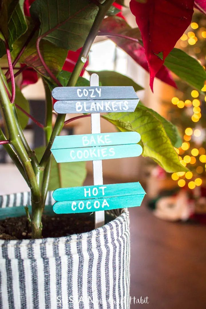 Mini Signs From Popsicle Sticks
