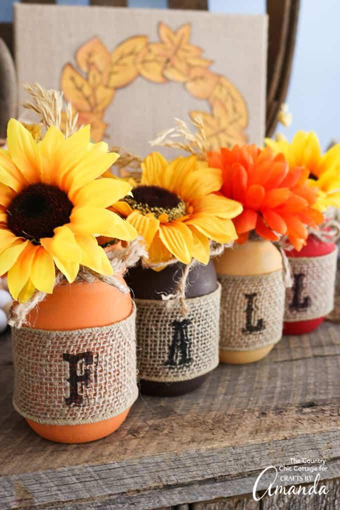 Fall Painted Mason Jars