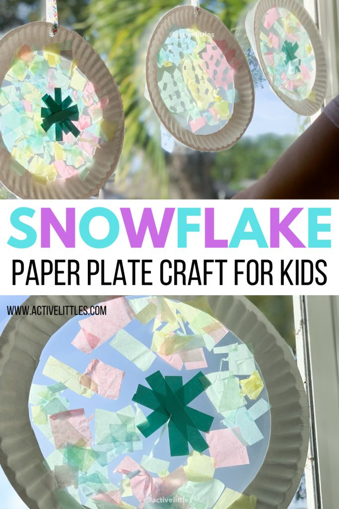 Snowflake Paper Plate Craft
